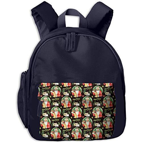 XCNGG Mochila para niños Mochila para niños Bolsos para niños Kids Backpack 3d Letter To Santa Claus Watercolor Kindergarten Preschool Pocket Bags Rucksack Casual Daypack For Children Toddler Girls Bo