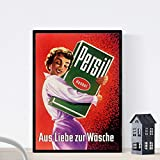 Nacnic Vintage Poster Persil ad Weinlese 50s Größe A4