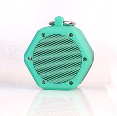 Mini altavoz YunMei®, Bluetooth2.1, portátil, salida 3W, micrófono incorporado, para iPhone, iPad, Samsung, Echo, Nexus, HTC, portátiles y más, BB-120, verde