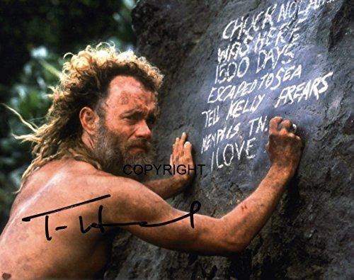TOM Hanks cast away fotografia firmato edizione limitata + stampato Autograph