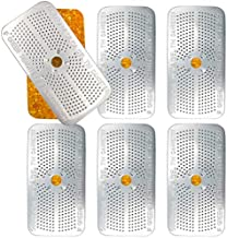 JJ CARE Silica Gel Dehumidifier, 50g Reusable Desiccant Canisters [Pack of 6] Indicating Orange Silica Gel Canister as Gun Vault Dehumidifier, Gun Safe Moisture Absorber for Bedroom, Car, Ammo Storage