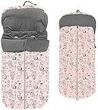 Danielstore- Saco silla paseo transpirable polar (1-Rosa animalitos)