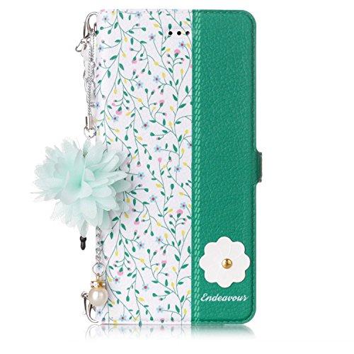 EWCover Funda de Billetera para Huawei P9 Lite,Funda de Cuero Premium PU con Estampado Floral en Color 3D con Correa de Mano para Huawei P9 Lite