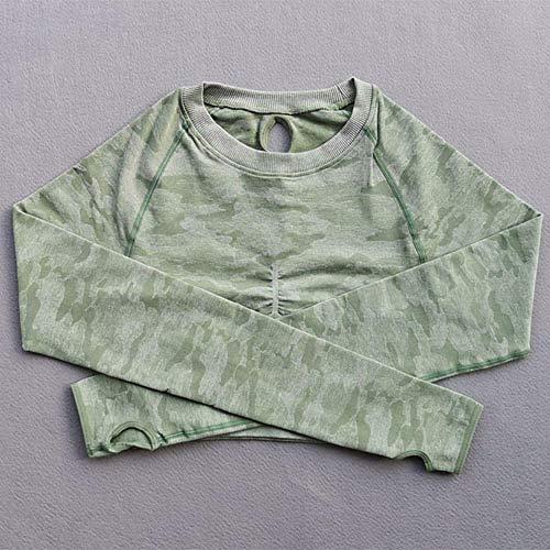 Jinlyp - Yoga-T-Shirts für Damen in Grenn, Größe M