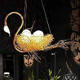 Luce a sospensione moderna Anatra stile soffitto lampadario creativo lampadario a forma di cigno a forma di cigno a forma di soffitto indoor luce moderna arte stile lampadario camera da letto soggiorn