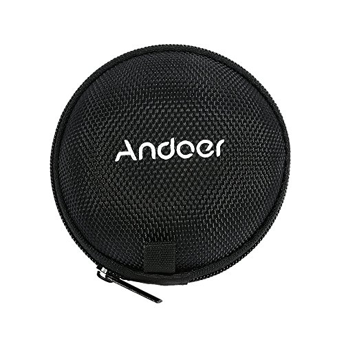 Andoer Kopfhörer-Box tragbare Mini-Kopfhörer und Headset-Fall-Kasten Tragbare MP3 Beutel Beutel mit Metallkette Haken