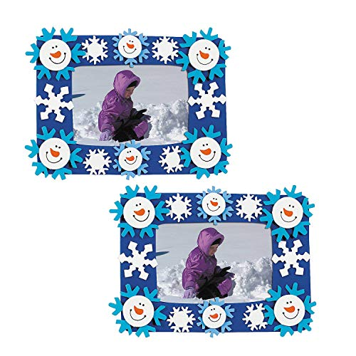 OTC 24 Foam Smile Face Snowman Photo Frame Magnet Craft Kits