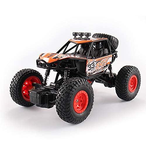 KTDT Coche Todoterreno 4WD RC, vehículo de Escalada inalámbrico de 2,4 GHz con batería Recargable para Regalos de cumpleaños de 5~13 años niños niñas Adultos