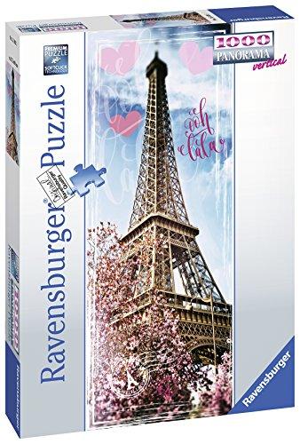 Ravensburger Puzzle, Puzzle 1000 Pezzi, Tour Eiffel, Formato Panorama, Puzzle per Adulti, Puzzle Parigi, Puzzle Ravensburger - Stampa di Alta Qualità