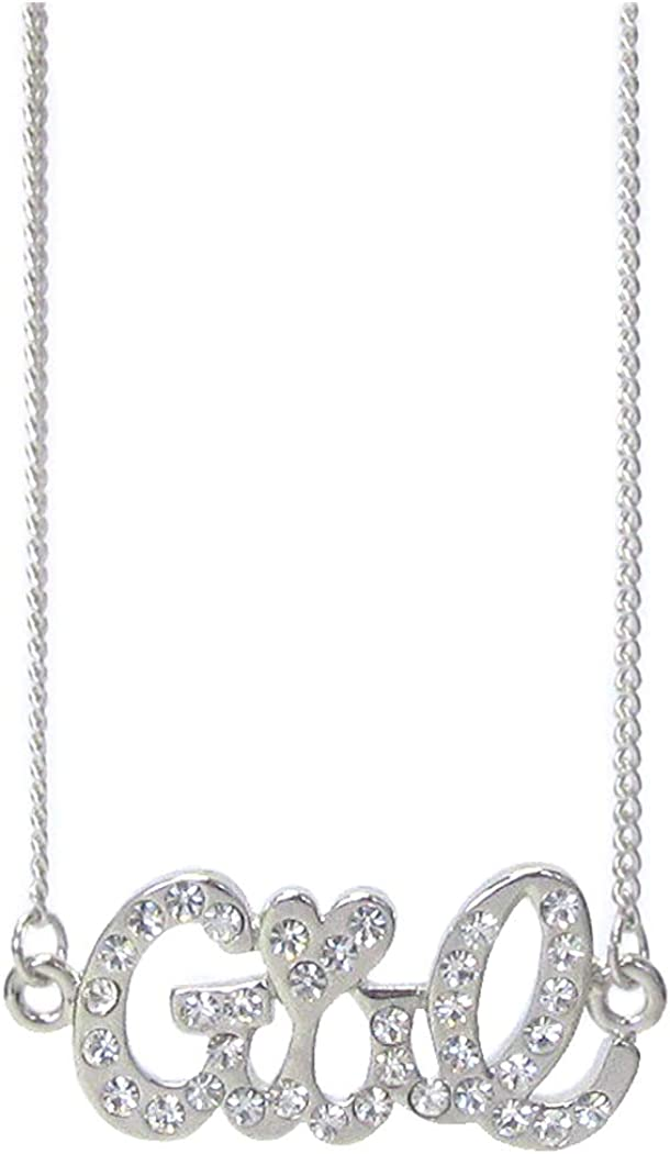 Fashion Jewelry ~ Crystal Girl Pendant Necklace for Women Teens Girlfriends Birthday Gifts