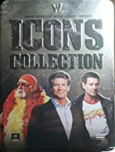 WWE Icons Collections Tin Box Gift Set : Hulk Hogan Ultimate Anthology , Vince Mcmahon , the Roddy Piper Story - 8 Discs - 24 Hours Run Time