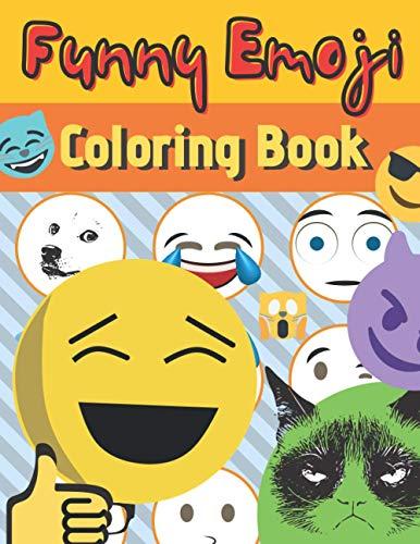 Funny Emoji Coloring Book: For Kids, Adults   Mandalas,...