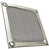 Aerzetix: Schutzgitter Lüftungsgitter 80x80mm Ventilation mit elektromagnetischen Schutz EMI-Abschirmung Bildschirm für Lüfter Gehäuse Computer PC C15141