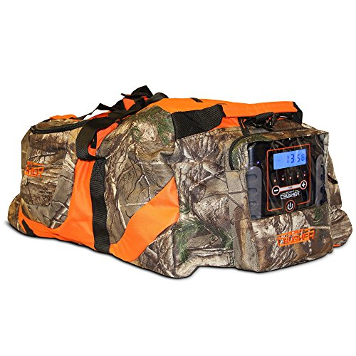 Scent Crusher Realtree Camo Gear Bag with Ozone Generator - Destroys Odors Within 30 mins, Use at Home or On The Way to The Field, Airport/TSA Compliant