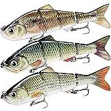 TRUSCEND Señuelos Pesca para Lubina Lucio Carpa, Pesca Accesorios, Cebo Swimbait de Hundimiento Lento / Surfcasting , Kit de Pesca