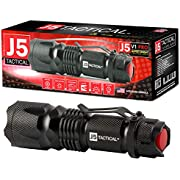 J5 Tactical Super Bright 300 Lumen V1-Pro LED 300 Lumen Tactical Torch Police Military Flashlight