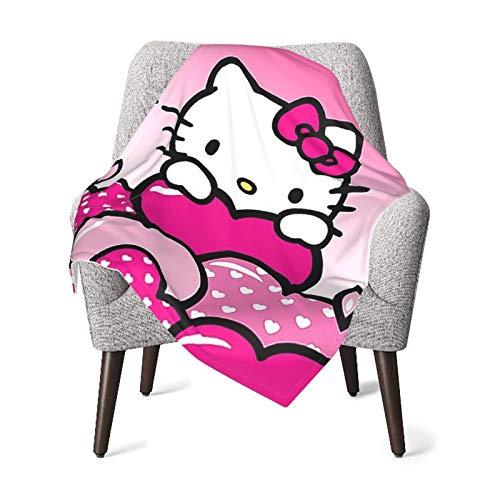 DNBCJJ Hello Kitty Baby-Decke, weich, warm, für Neugeborene, Kinderwagen, Reisen,...