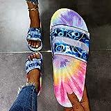LYYJF Mujer Sandalias-Verano Cuña Zapatos de Plataforma de tacón Alto Fondo Grueso Retro Sandalias y Pantuflas Casuales,Azul,43