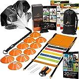 Athletivi Agility Ladder Football Training Equipment - Ladder Kit with...