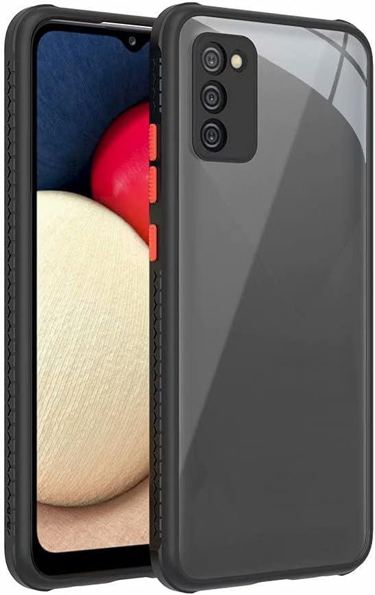 جراب Doao لهاتف Huawei nova 8 Pro 4G (+حامل الهاتف الدائري)، جل مطاطي شفاف مقاوم للخدش، جراب خلفي شفاف صلب لهاتف Huawei nova 8 Pro 4G، أسود