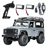 BeesClover MN 99s 2.4 G 1/12 4 WD RTR Crawler RC Coche Off-Road Buggy para Land Rover Vehículo Modelo Conveniente Vida, Gris, Two Batteries