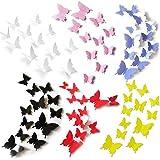 72 piezas de pegatinas de pared de mariposa 3D diseño de moda mariposa DIY calcomanías artesanías decoración del hogar