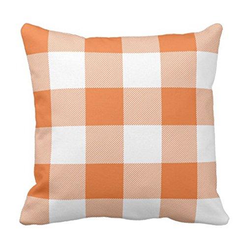 lucies Throw Pillow Cover Cute Chic Pink Preppy Buffalo Check Plaid Modern Decorative Pillow Case Home Decor Square 18 x 18 Inch Pillowcase-G0