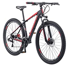 The Schwinn bonafied mountain bike features an aluminum mountain frame and a powerful Schwinn suspension fork that soaks up bumps and thumps to provide you with a fun, durable riding experience 24 speed Shimano EZ Fire trigger shifters and front and ...