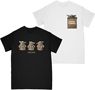 Star Wars The Mandalorian Girls The Child Poses - Precious Cargo T-shirt Multi Pack of 2 7-8 Years