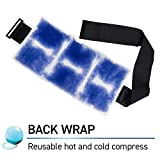 TheraPearl Color Changing Hot Cold Pack for Back, Reusable Back Wrap with Strap & Gel Beads, Best...