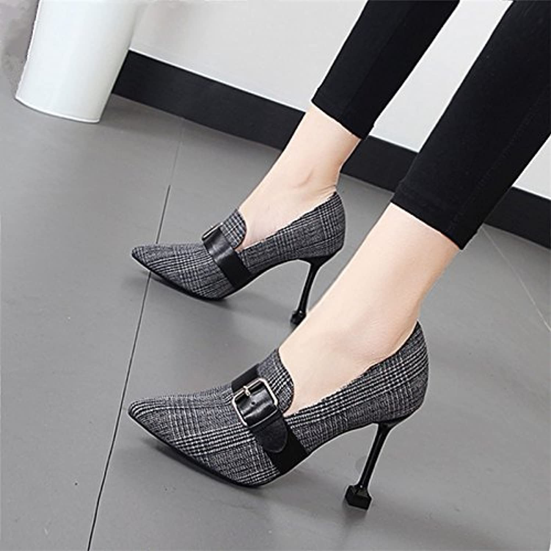 Xue Qiqi high-heel Schuhe Mädchen tipp Licht - Schuh Gürtelschnalle Gürtelschnalle Gürtelschnalle fein mit Arbeit Schuhe  f970d2