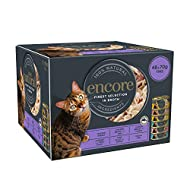 Encore 100% Natural Wet Cat Food, Multipack Chicken and Fish Selection in Broth 70 g Tins (Total of ...
