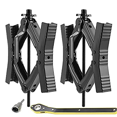 RV Camper wheel tire chock, 2 sets, for RV safety, levering system, Heavy Duty, stabilizer jack with crank handle x chock rv