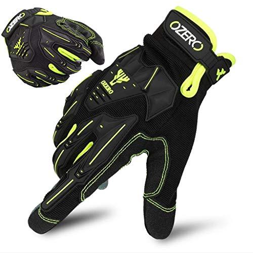 Mountain Bike Gloves,Women/Men Dirt Bike Gloves Motorcycle Finger Gloves, Fitness Exercise, Rock Climbing Adventure, Wear-Resistant and Antiskid,Black-L