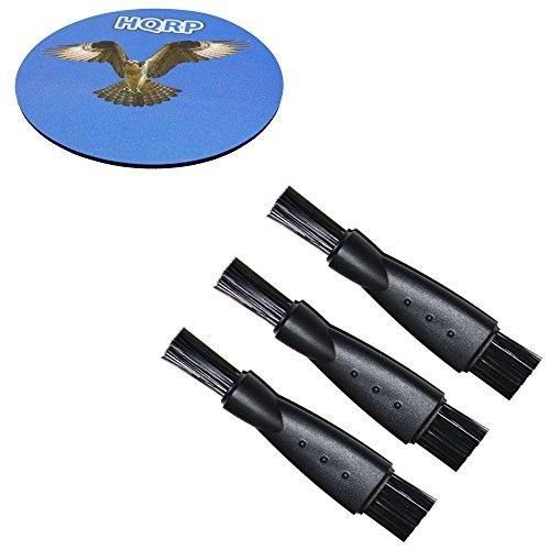 HQRP Paquet de 3 brosses de nettoyage pour Braun Series 5 ContourPro 530s-4, 550, 550s-3, 550s-4, 550cc-4, 560, 560s-3, 560s-4, 565cc-4 Type 5751 Rasoir electrique