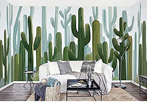 XHXI Mural 3D Cactus Plant Wallpaper Sala de estar TV Fondo Arte de la pared Dormitorio simple Decoración de b Pared Pintado Papel tapiz Decoración dormitorio Fotomural sala sofá mural-150cm×105cm