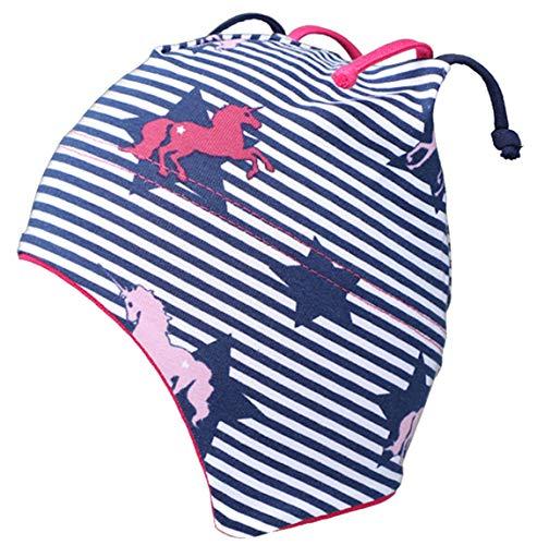 fiebig Jersey Baby Bindemütze Einhorn Mütze Marine Streifen (47)