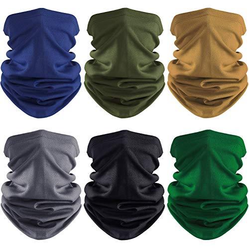 6 Pieces Summer Face Cover UV Protection Neck Gaiter Scarf Sunscreen Breathable Bandana