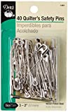 Dritz 40-Piece Safety Pins, Size 3, Nickel Finish