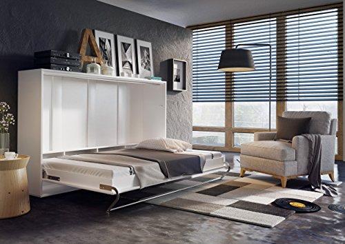 Schrankbett CONCEPT PRO Wandklappbett – Horizontal (140×200 cm, weiß matt) - 2