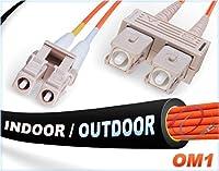 6M OM1 LC SC ファイバーパッチケーブル | インドア/アウトドア デュプレックス 62.5/125 LC - SC マルチモードジャンパー 6メートル (23フィート) | 長さオプション:0.5M-300M | ファイバーケーブルダイレクト - アメリカ製 | mmf lc-sc パッチコード dx otdr