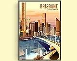 Australia Poster, Bris-bane Poster, Australia Print,