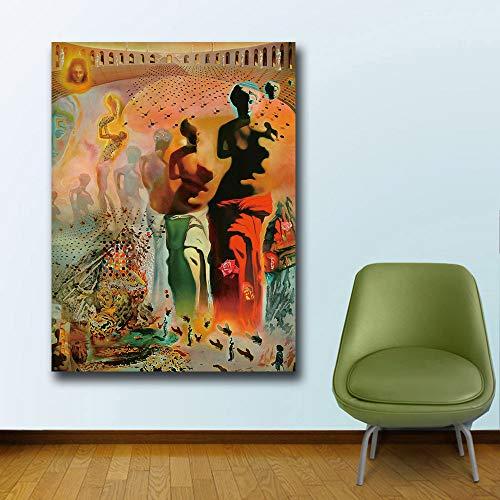 YHZSML Kunst Salvador Dali Halluzinogene Toreador Leinwand Malerei Für Wohnzimmer Wohnkultur Ölgemälde Auf Leinwand Wandmalerei 50x65 cm