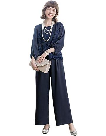 3b7aa4fe35170 パンツドレス パーティードレス パンツ セットアップ レディース パンツスーツ 大きいサイズ 袖あり パンツドレス 2