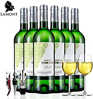 【拉蒙法国原瓶进口】波尔多AOC级 宝蓝亭酒庄干白葡萄酒750ml*6整箱装