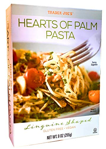 Trader Joe's Hearts of Palm Pasta, Linguine Shaped, Gluten Free, Vegan, 9 ounces (255 grams)