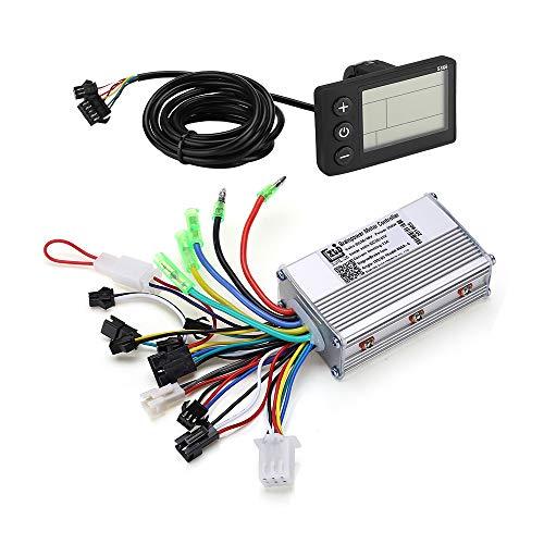 Motor Brushless Controller,36V 48V 350W Waterproof Electric Bicycle Scooter Brushless Controller Kit with LCD Display Meter