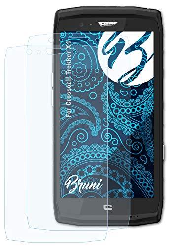 Bruni Schutzfolie kompatibel mit Crosscall Trekker X4 Folie, glasklare Bildschirmschutzfolie (2X)