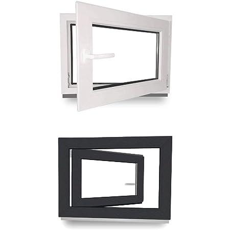 Wei/ß BxH: 80x40 cm DIN Links Fenster Kunststofffenster Kellerfenster Premium 3-fach Verglasung Breite: 80 cm x H/öhe: Alle Gr/ö/ßen Dreh-Kipp-Funktion
