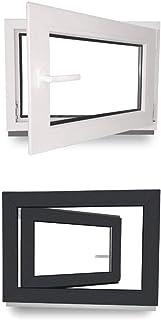 2 fl/ügelig mit Pfosten 2-fach-Verglasung BxH:1500x1400 mm JeCo Fenster Kunststofffenster Wohnraumfenster 60 mm Profil Sonderma/ße m/öglich